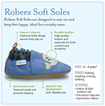 Robeez Baby Soft Sole Features