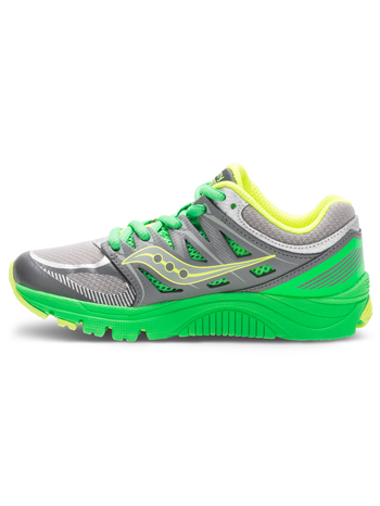 Saucony Boys Zealot Grey/Green/Citron