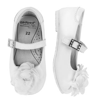 pediped Flex Stella White pair
