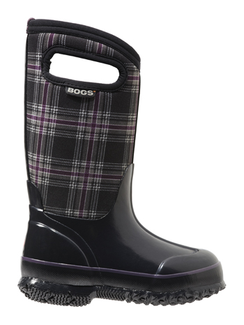 Bogs Kids' Insulated Boots Classic Winter Plaid Black Multi