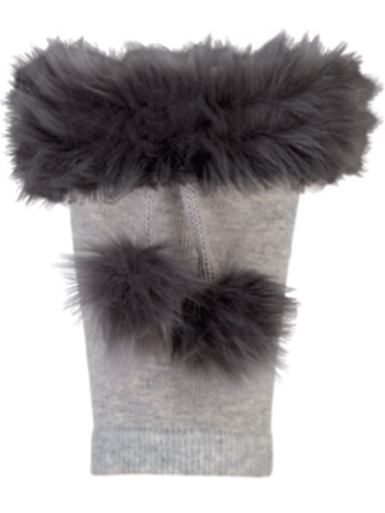 Country Kids Boot Cuffs Silver Gray O/S