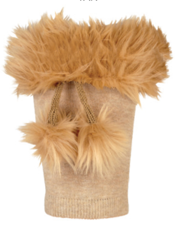 Country Kids Boot Cuffs Tan O/S