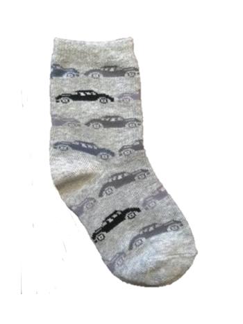 Country Kids Car Socks Sweatshirt Gray