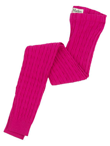 Hatley Cable Knit Tights Magenta Lotus