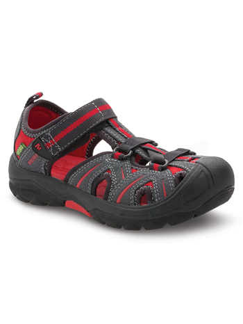 Merrell Hydro Sandal Grey/Red (Kids/Youth) (Wide)