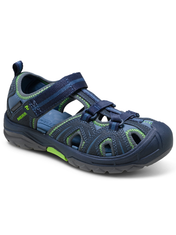 a254b1a8a7e9 Merrell Hydro Sandal Navy Green (Kids Youth) (Wide)