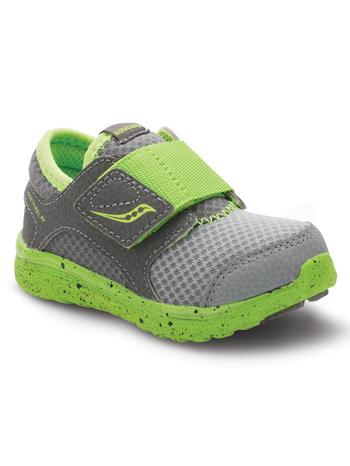 Saucony Baby Kineta AC Grey/Green (Toddler/Kids)