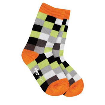 See Kai Run Organic Socks Pixel Party Gray