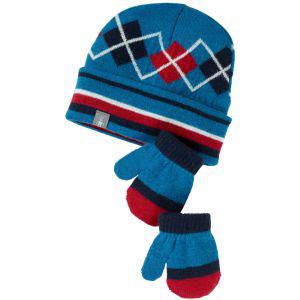 SmartWool Baby Argyle Hat Mitt Set Arctic Blue