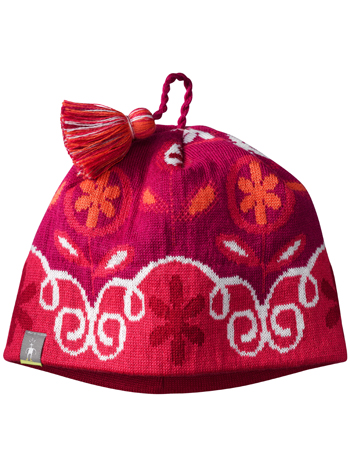 SmartWool Girls Wintersport Flower Patch Hat Punch