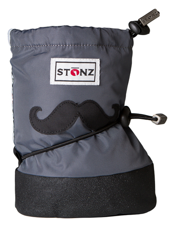 Stonz Booties Moustache Black/Grey