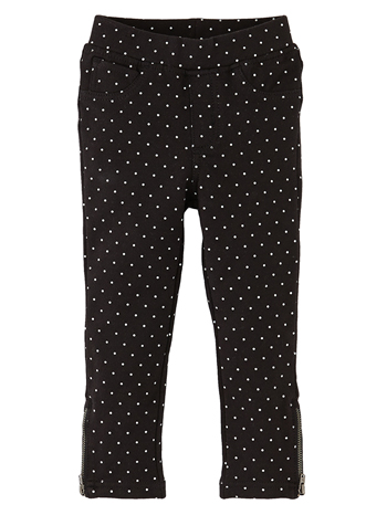 Tea Collection Skinny Minny Metallic Dot Pants Jet Black