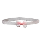 No Slippy Headband Zoey Baby Bow Pink