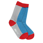 See Kai Run Organic Socks Sporty Stripes Blue