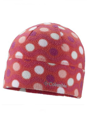 Columbia Youth Baddabing Hat Red Hibiscus Wavy Dot
