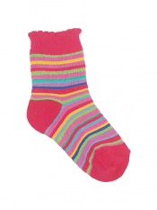Country Kids Jelly Bean Stripe Sock Hot Pink