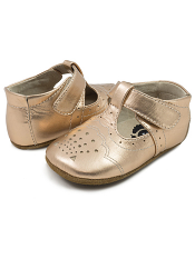 Livie & Luca Cora Rosegold Metallic (Baby Soft Sole)