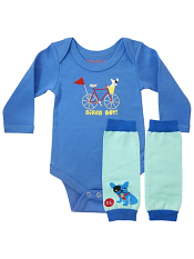 BabyLegs Biker Boy Bodywear Set