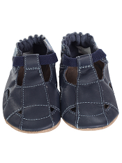 Robeez Fisherman Sandal Navy (Soft Soles)