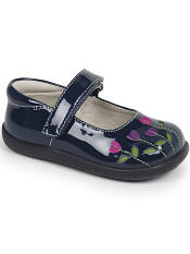 See Kai Run Tricia Navy Patent/Berry