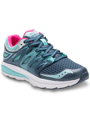 Saucony Girls Zealot 2 Lace Navy/Turquoise (Toddler/Kids)