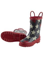 Hatley Bright Stars Gray Rain Boots