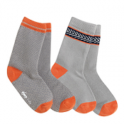 See Kai Run Organic Sock Set Chevron Deluxe Gray/Orange