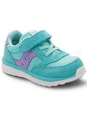 Saucony Baby Jazz Lite Turquoise/Purple (Toddler/Kids)