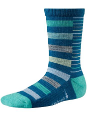SmartWool Girls Split Stripe Arctic Blue