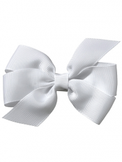 "No Slippy Hair Clippy Whitney 3.5"" Princess Bow White"