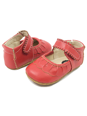 Livie & Luca Ruche Red (Baby Soft Sole)