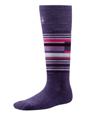 SmartWool Kids Wintersport Stripe Desert Purple