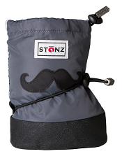 Stonz Booties Moustache Black/Grey