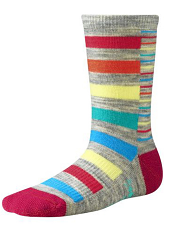 SmartWool Girls Split Stripe Ash Heather