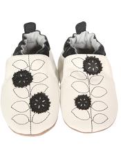 Robeez Pretty Petal Black/White (Soft Soles)