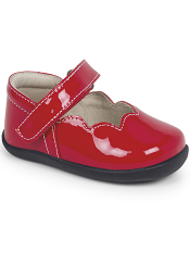 Smaller Steps By See Kai Run Savannah Red Patent