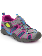 pediped Flex Canyon Charcoal/Pink