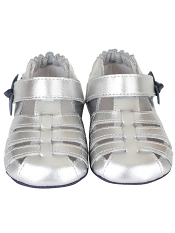 Robeez Mini Shoez Sara Sandal Silver