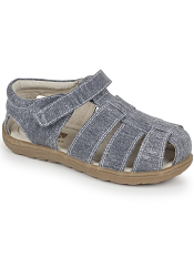 Kai by See Kai Run Dillon II Gray Canvas