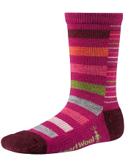 SmartWool Girls Split Stripe Berry
