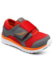 Saucony Baby Kineta A/C Red/Grey/Orange (Toddler/Kids)
