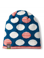 SmartWool Kids Reversible Wintersport Dot Hat Glacial Blue