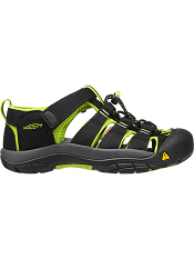KEEN Newport H2 Black/ Lime Green (Kids/Youth)